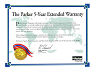 Parker 5-Year Extended Warranty